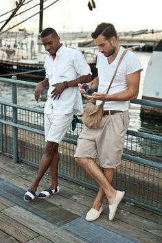 Love the overall look, even if the closer guys shorts slightly remind me of a potato sack #menswear