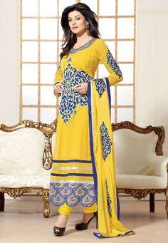 #Yellow Churidar Kameez @ $97.21