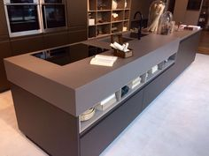 Is there a more classy space than this one? Dekton Galema application in this #kitchen found at Berloni´ s showroom during Milano Design Week cannot go unnoticed. #Design