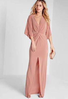 Pin for Later: Get Pretty in Pink With Pantone's Colour of the Year Missguided Slinky Kimono Maxi Dress Rose Pink Missguided Slinky Kimono Maxi Dress Rose Pink Side Slit Maxi Dress, Kimono Dress, Kimono Style, Pink Evening Dress, Evening Dresses, Pink Dress, Pink Maxi, Moda Kimono, Mode Rose
