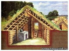 Conventional dwellings Slavic nations dugouts and huts. How to choose and treated material for the construction of houses