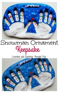 Learning and Exploring Through Play: Salt Dough Snowman Keepsake for Kids to Make