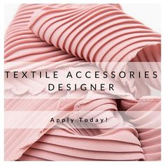 We've got a fantastic opportunity for a #Textiles #Accessories #Designer to join the HQ of our clients based in #Barcelona, #Spain. Be part of the design team of a well established fashion brand and create all #accessories for the #womenswear department (hats, caps, scarves, patches, socks etc.) . Find out more and apply now! http://ow.ly/NTKd302l5J6