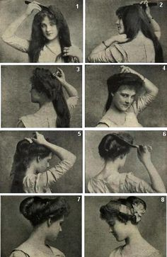 Art Nouveau Hair Tutorial!  1910 hair, via Psyche Knot.