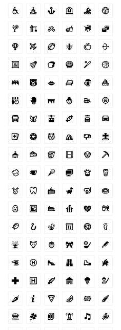 Googleマップ風、地図用ピクトグラム無料アイコン素材200個セットPhotoshopVIP | PhotoshopVIP Icon Design, Design Art, Web Design, Logo Design, Map Icons, Typo Logo, Glyph Icon, Custom Icons, Photoshop Illustrator