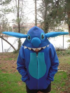 STITCH  inspired Hoodie for Adults - Lilo and Stitch - ish Hooded Jacket on Etsy, $64.00