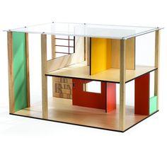Maison de poupées design Cubic house Djeco - Modern dollhouse Djeco www.lepingouindelespacecom