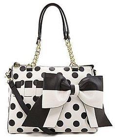 ShopStyle: Betsey Johnson Gift Me Baby Polka Dot Convertible Satchel Betsy Johnson Purses, Betsey Johnson Bags, Betsey Johnson Luggage, Fashion Handbags, Purses And Handbags, Cute Purses, Cute Bags, Mode Outfits, Purse Wallet