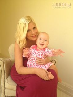 Tori Spelling and daughter Hattie