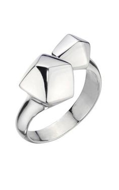 Defined by simple clean lines and a sculptural geometric shape this unique style is going to be your next silver crush. Mexican silver jewelry   open silver ring   geometric ring   sterling silver ring