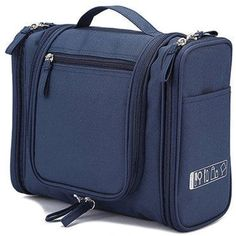 iSuperb Hanging Toiletry Bag Organizer Waterproof Exquisite Travel Cosmetic  Bag for Men and Women (Dark Blue)     Check out this great product. f6d9167b6f522
