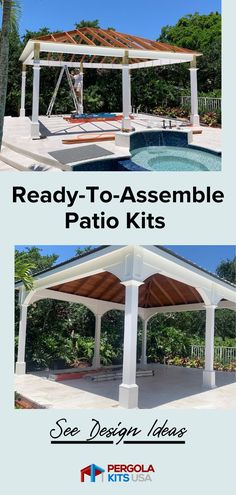 These ready to assemble Patio Kits from Pergola Kits USA are customizable to your yard. Easy set up and you are ready to enjoy the backyard with family and friends for years to come! #backyardmakeover Cedar Pergola, Diy Pergola, Pergola Kits, Patio Kits, Cedar Lumber, Backyard Makeover, Outdoor Entertaining, Outdoor Dining, Pavilion