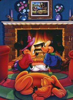Mickey Mouse, Minnie Mouse, Pluto