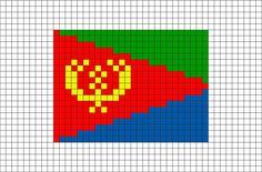 Flag of Eritrea Pixel Art from BrikBook.com #Eritrea #FlagofEritrea #StateofEritrea #EastAfrica #Eritrean #pixel #pixelart #8bit Shop more designs at http://www.brikbook.com