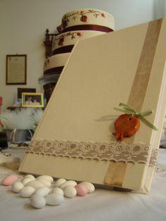 handmade wedding guest book!