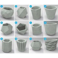 Diy Concrete Planters, Cement Planters, Concrete Crafts, Concrete Projects, Concrete Design, House Plants Decor, Plant Decor, 3d Prints, Diy Décoration