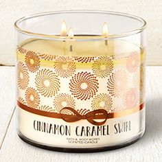Cinnamon Caramel Swirl 3-Wick Candle - Home Fragrance 1037181 - Bath & Body Works