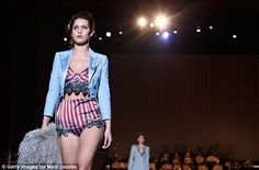 Added extra: Adding to the circus feel, Bella wore a cropped blue jacket with tails that a...