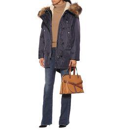 Shop Faux fur-trimmed parka presented at one of the world's leading online stores for luxury fashion. Fishtail Parka, Burberry Outfit, Fur Trim, Alternative Fashion, Wool Coat, Cashmere Sweaters, Wool Blend, Military Jacket, Faux Fur