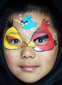 Angry Birds Face Paint