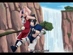 Sasuke and Sakura from Naruto. Oh sweet merciful heavens, this is hilarious!