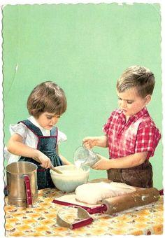 .Niños cocinando