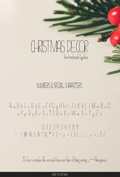 Creativetacos | Free Christmas Decor Hand Drawn Typeface