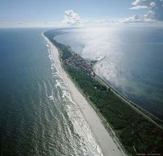 The Hel Peninsula viewed from the west / Phot. Marek Ostrowski / Album Sky Views of Poland, by Pascal Places Around The World, Around The Worlds, Places To Travel, Places To Visit, Visit Poland, Places Worth Visiting, Historical Monuments, Destin Beach, Naturaleza