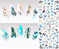Butterfly Nail Wraps Sticker Decals