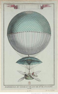 Expérience du Vaisseau Volant de Mr. Blanchard en 1784 : [estampe] ([Lettre abrégée])