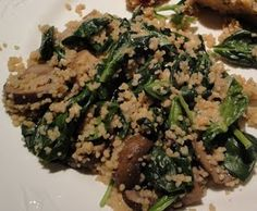 Couscous with Spinach, Mushrooms and Feta