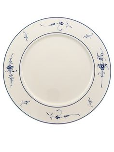 COURTESY OF VILLEROY & BOCH: Floral Pattern Plate.   Villeroy & Boch's Vieux Luxembourg was first produced in 1768, then re-introduced in 1970.