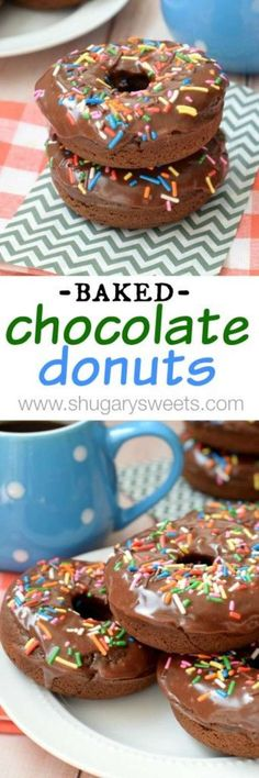 Baked Chocolate Donu