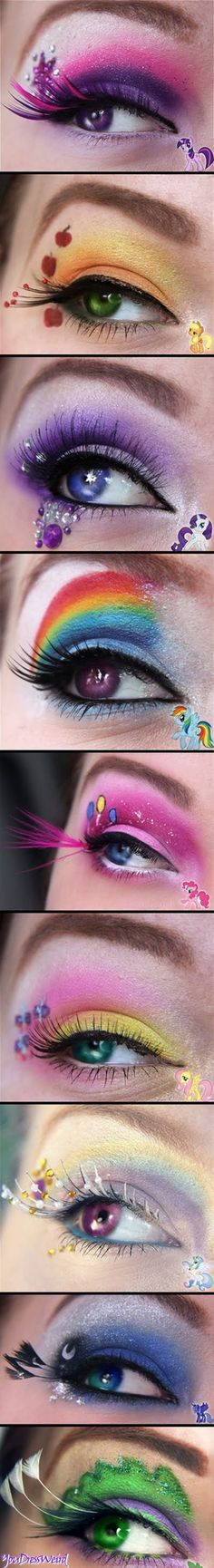 my little pony Friendship is Magic.... this is 20% cooler than anything I have seen in a LONG time! And I probably CAN do some of these eyes in 10 seconds flat! :-)