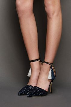 J.Crew's tassel heels