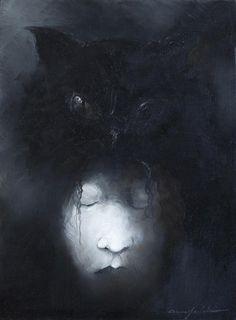 © Anne Bachelier  The Black Cat  http://annebachelier.blogspot.com/