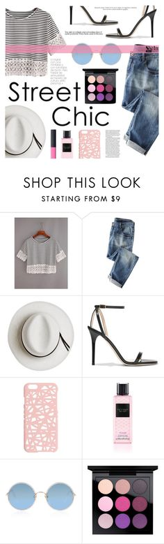 """""""Street Chic"""" by tasnime-ben ❤ liked on Polyvore featuring Wrap, Calypso Private Label, Jimmy Choo, Miss Selfridge, Victoria's Secret, Sunday Somewhere, MAC Cosmetics, NARS Cosmetics, Sheinside and shein"""