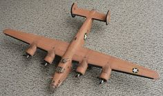 Here are some images of Monogram's 1/48 scale Consolidated B 24 D Liberator (Pregnant Cow). This model represents the aircraft Teggie An...