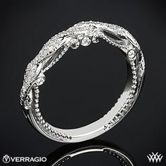 Verragio Beaded Braid Diamond Wedding Ring This Diamond Wedding Ring is from the Verragio Insignia Collection.