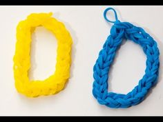 Wie erstelle ich den Buchstaben D mit Rainbow Loom | Rainbow Loom Anleitungen