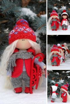 Christmas doll READY Fabric doll Winter doll Baby doll Tilda doll 1Red doll Soft doll Cloth doll Textile doll Rag doll Interior doll by Olga: https://www.etsy.com/listing/486208466/christmas-doll-ready-fabric-doll-winter
