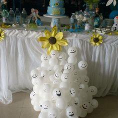 Snowgies balloons at a Disney Frozen Fever Birthday Party Ideas