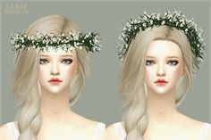 Lana CC Finds - Gypsophila Flower Crown by sims4-marigold