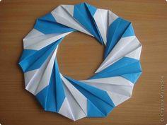 Мастер-класс Оригами: Водоворот. МК Бумага. Фото 3