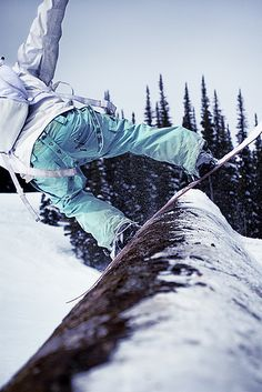 Snowboarding on a tree, on Flickr #snowboarding #winter #ski