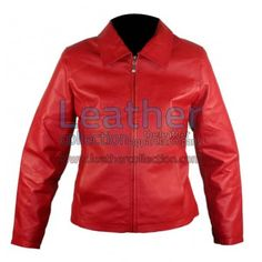 Classic Ladies Red Leather Jacket for $147.00 - https://www.leathercollection.com/en-we/red-leather-jacket-flj-1474-en.html