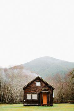 House near HOH Rain forrest, Washington | Flickr - Photo Sharing! We love the orange door and location....location....location!