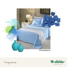 A cor de destaque de hoje é o azul, trazendo tranquilidade, serenidade e harmonia para o seu ambiente. #decoração