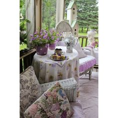 Aiken House Gardens Tea on our Summer Porch ❤ liked on Polyvore featuring home and outdoors