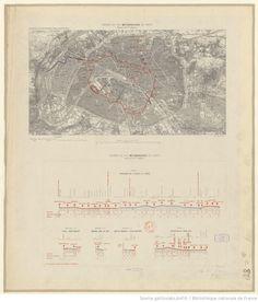 Chemin de fer métropolitain de Paris. Réseau de 1re urgence. Extrait de la carte de l'état-major. Département de la Seine